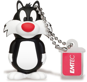 Emtec - L101 LT Sylvester 8GB USB 2.0 Flash Drive, Black/White (ECMMD8GM700F08) | Dodax.com