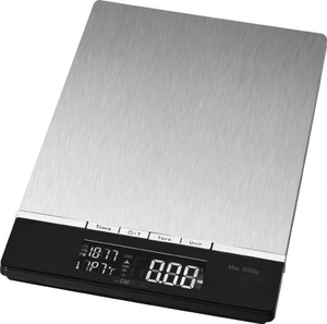 Clatronic - Kitchen Scale, LCD, 5 kg, Stainless Steel (KW 3416) | Dodax.co.uk