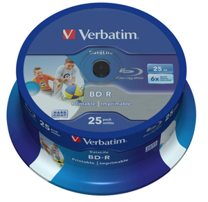 Verbatim BD-R 6x Single Layer 25GB 25-Spind | Dodax.ch