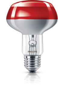 Philips Reflektorlampe NR80 60W, E27,rot | Dodax.at