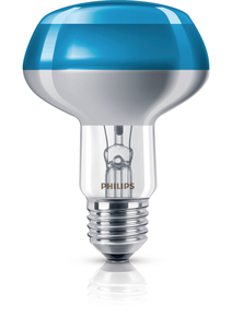 Philips Reflektorlampe NR80 60W, E27, blau | Dodax.at