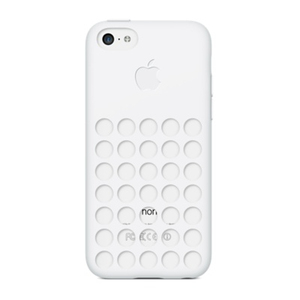Apple - Silicone Case for iPhone 5c, White (MF039ZM/A)   Dodax.ch