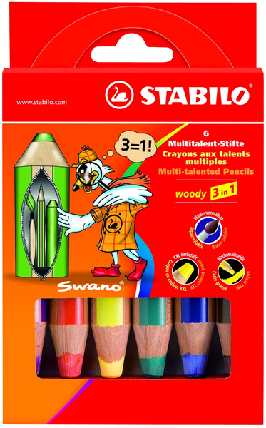 STABILO woody 3 in 1 6er Etui | Dodax.at