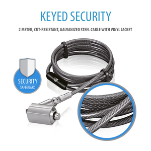 V7 Portable Security Cable with Key Lock | Dodax.com