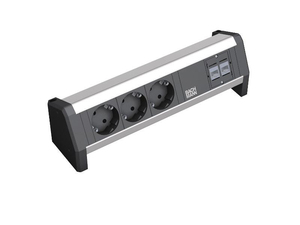 Image of 339.1004 - Socket outlet strip aluminium 339.1004