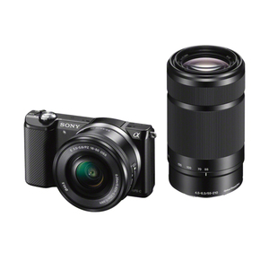 Sony Alpha 5000 Set schwarz, 20.1 MP | Dodax.ch