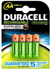 Duracell Rechargeable Aa 4st