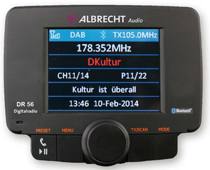 Albrecht DR 56 Auto Digital Schwarz Radio | Dodax.at