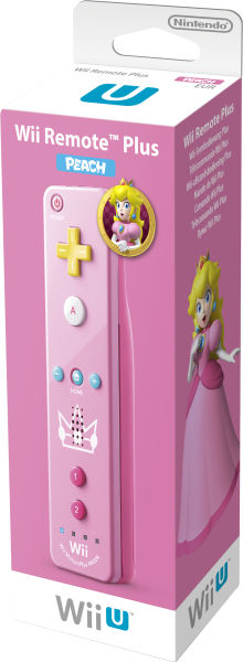 Wii U Remote Plus Peach Edition, Fernbedienung für Nintendo Wii U | Dodax.at