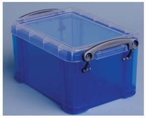 Really Useful Boxes transparante opbergdoos 0,7 l blauw | Dodax.pl