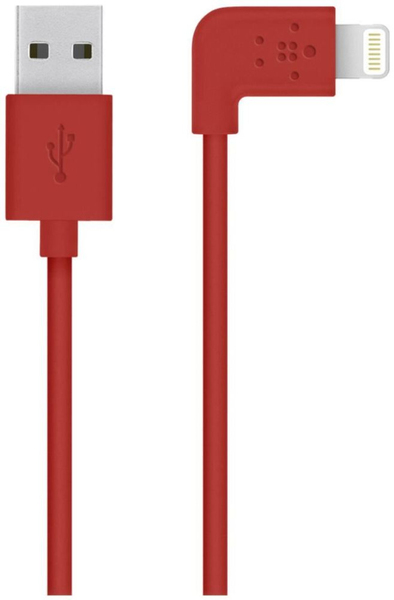 Belkin - Cable Flat Lightning / USB 1,2m (F8J147BT04-RED) | Dodax.at