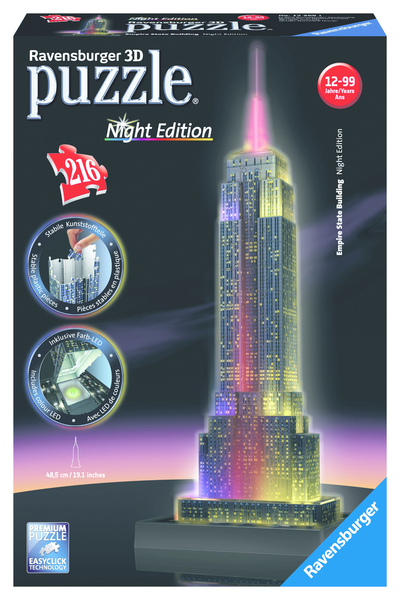 Empire State Building, Night Edition 3D (Puzzle) | Dodax.at