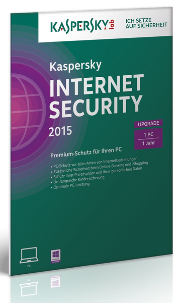 Kaspersky Internet Security 2015 Upgrade (FFP), 1 CD-ROM | Dodax.ch