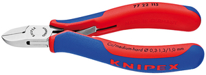 Side-cutting pliers without bevel Knipex
