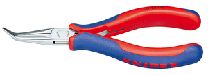 KNIPEX Elektronik Greifzange DIN 9655 flach-rund lange Backen Länge 145 mm | Dodax.at