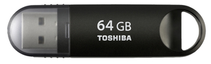 Toshiba TransMemory-MX 64GB 64GB USB 3.0 Schwarz USB-Stick | Dodax.at