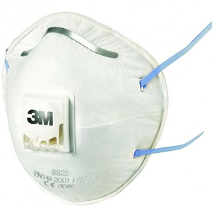 3M - Protection Mask, 3 Pieces, White (8822C3) | Dodax.at