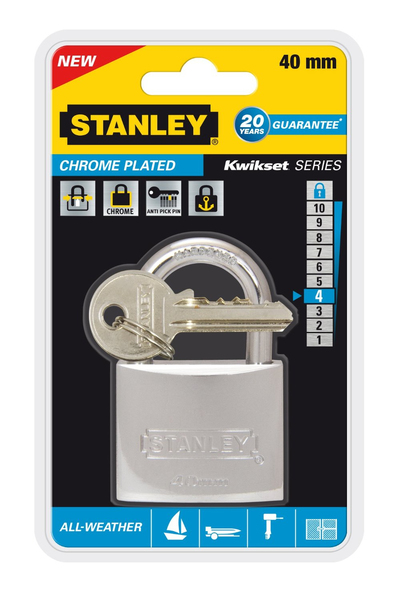 Stanley - All Weather Padlock, 40 mm (81051371401) | Dodax.nl