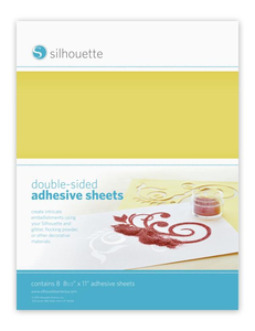 Silhouette - Künstler Papier Double-Sided Adhesive, 8 Blätter (MEDIA-ADHESIVE) | Dodax.ch