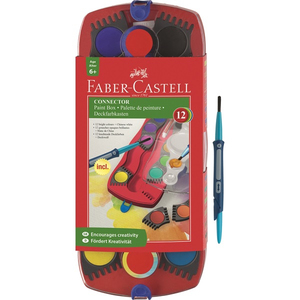 FABER-CASTELL Connector Farbkasten 12er | Dodax.at