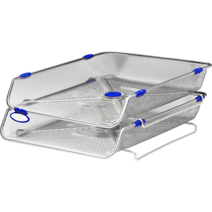 Rexel 2 Tirered Wire Letter Tray Silver | Dodax.com