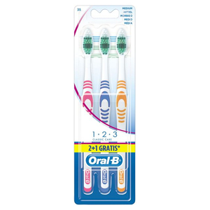 Oral B - Toothbrush, Dental Care, 3 Pieces | Dodax.co.uk