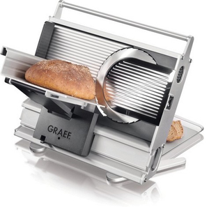 Graef - Electric Slicer, 230 V, 4.46 kg, Black/Grey/Stainless Steel (UNA 10) | Dodax.ch