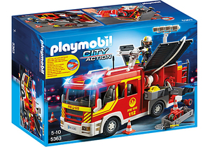 Playmobil City Action Fire Engine with Lights and Sound | Dodax.at