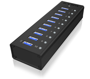 ICY BOX IB-AC6110, 10x USB3.0 Hub, | Dodax.at