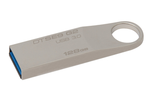 Kingston Technology DataTraveler SE9 G2 128GB 128Go USB 3.0 (3.1 Gen 1) Type-A Argent lecteur USB flash | Dodax.fr