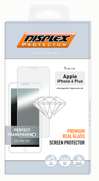 Displex Protector Real Glass Apple iPhone 6+ | Dodax.fr