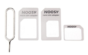 Noosy SIM Adapter Mix Kit, 3 Adapter, white | Dodax.at