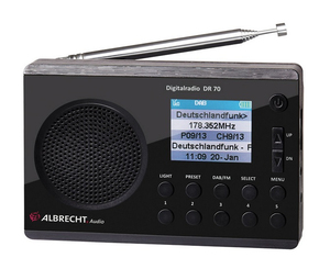 Albrecht DR 70 Tragbar Digital Schwarz Radio | Dodax.at
