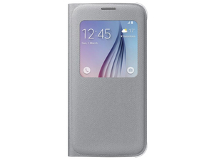 Samsung  - Galaxy S6 S View Cover Canvas (EF-CG920BSEGWW) | Dodax.ch