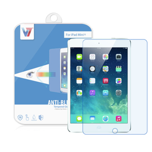 V7 Shatter-Proof Tempered Glass Screen Protector with Anti-Blue Light filter for iPad Mini 2/3 | Dodax.com