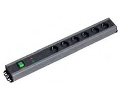 Image of 300.012 - Socket outlet strip black 300.012
