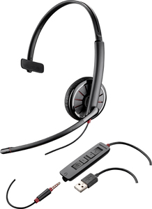 Plantronics C315 Monaural Head-band Black headset | Dodax.co.uk