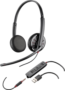 Plantronics C325 Binaural Head-band Black headset | Dodax.co.uk