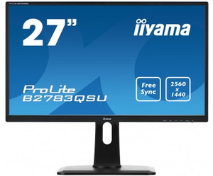 iiyama ProLite B2783QSU-B1 27Zoll Wide Quad HD TN Schwarz LED display | Dodax.at