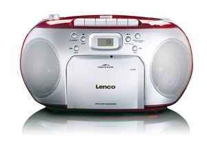 Lenco SCD-42, Tragbarer CD-Player, rot | Dodax.ch