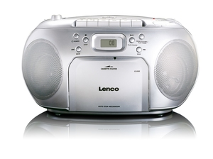 Lenco SCD-42, Tragbarer CD-Player, silber | Dodax.ch