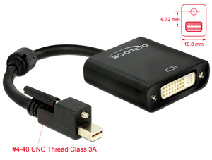 Mini-Displayport zu DVI-I Adapter, aktiv,4K | Dodax.ch