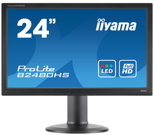 "iiyama ProLite B2480HS-B2 TN 23.6"" Black Full HD LED display 