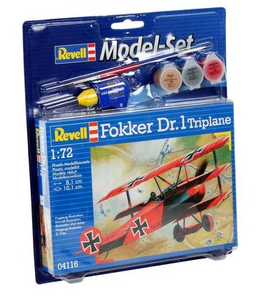 Revell Fokker DR.1 Triplane 1:72 Assembly kit Fixed-wing aircraft   Dodax.pl