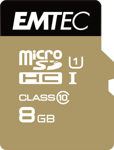 Emtec microSD Class10 Gold+ 8GB memory card | Dodax.co.uk
