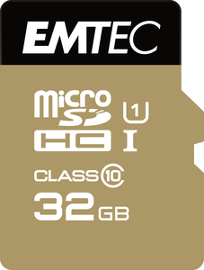 Emtec microSD Class10 Gold+ 32GB memory card | Dodax.co.uk