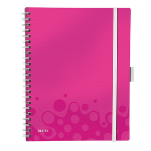 Leitz 46450023 A4 80sheets Metallic,Pink writing notebook | Dodax.co.uk