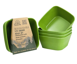 EcoSouLife Square Bowl Green | Dodax.at