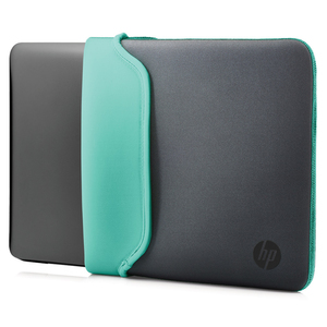 "HP - Neoprene Sleeve 14"", Gray/Green (V5C29AA#ABB) 