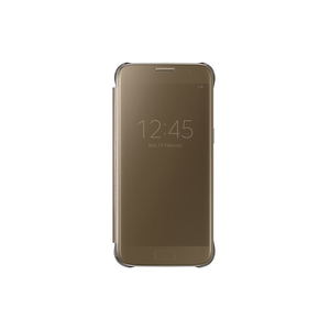 Samsung - Galaxy S7 Clear View Cover, Gold (EF-ZG930CFEGWW) | Dodax.at